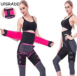 Brandless New 3-in-1 High Waist Trainer Thigh Trimmer,Fitness Weight Butt Lifter Slimming Support Belt Hip Enhancer Shapewear Thigh Trimmers Upgraded Version for Women, Adjustable & Unisex