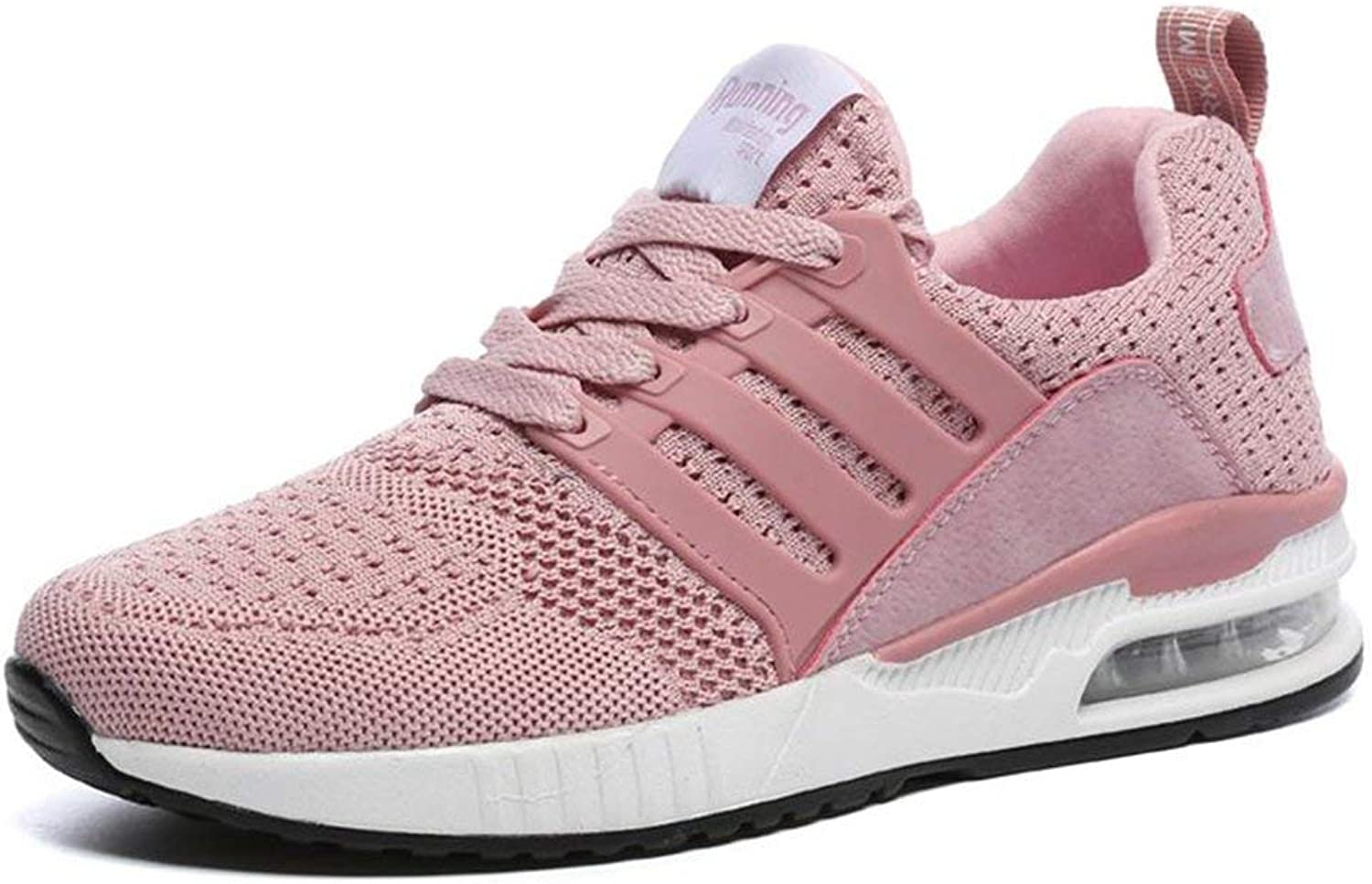 ZHRUI Men Sneakers Breath Jogging for Male Female Sports Running shoes Fly Weave Unisex Adults Trainers Walking Sport Gym shoes (color   01 Pink, Size   5.5=39 EU)