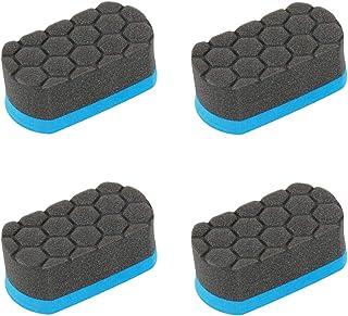 4 قطعه Easy Grip Soft Hex Logic Applicator پد لاستیک پانسمان اپلیکاتور لاستیک براق اپلیکاتور اتومبیل جزئیات اسفنج ابزار اسفنجی پد تمیز کردن لاستیک اسفنج (آبی ، مشکی)