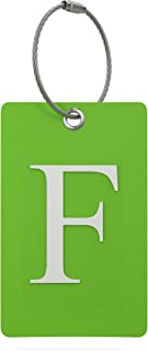 Luggage Tag Initial – Fully Bendable Tag w/Stainless Steel Loop (Letter F)