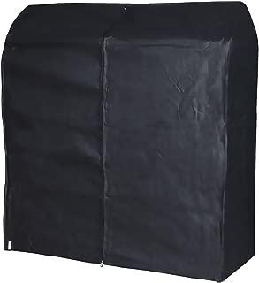 HANGERWORLD Black 4ft Breathable Zip Clothes Rail Cover Hanging Garment Storage Display