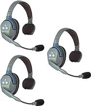 $560 » Eartec UL3S UltraLITE Full Duplex Wireless Headset Communication for 3 Users - 3 Single Ear Headsets