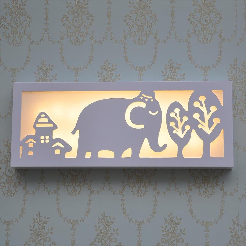 YIZHANGKahai Elephant rectangular lámpara de parojo LED WISP de la lámpara de parojo tallada vacía PVC Lámpara de parojo de cabecera Escaleras pasillo de la lámpara de parojo  50  20 cm