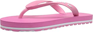 Lacoste Kids Girls nosira Slip, Pink/White Synthetic, Size 11. M US Little Kid US