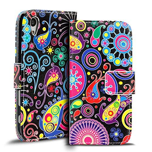 Verco Handyhülle Xperia Z5 Muster, Motiv Hülle Sony Xperia Z5 Book Hülle Flip Cover - Design 4