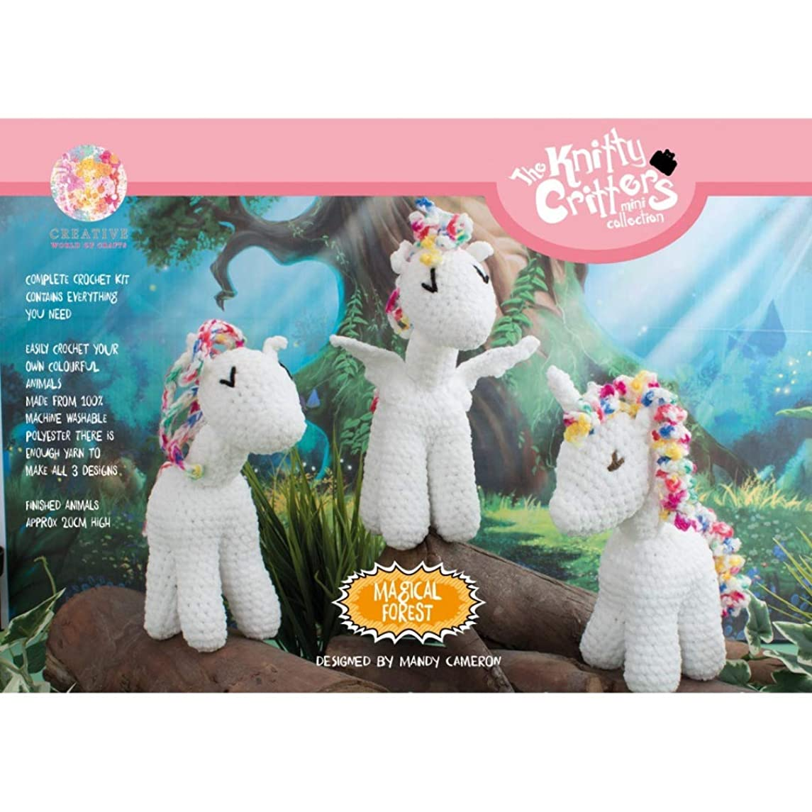 Creative World of Crafts Knitty Critters - Magical Forest - White (A Complete KNITTY Critters Crochet KIT)