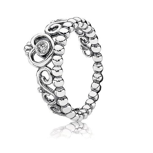 81a7f99bb Pandora Women's 925 Sterling Silver Cubic Zirconia Tiara Ring