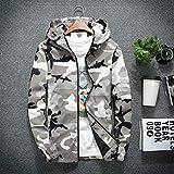 Yao Fashionable Men Camouflage Printed Jacket Long Sleeve Zipper Hooded Jackets