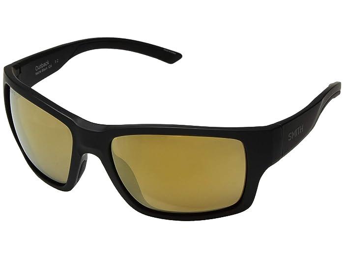 Outback (Matte Black/Chromapop Bronze Mirror Polarized) Athletic Performance Sport Sunglasses