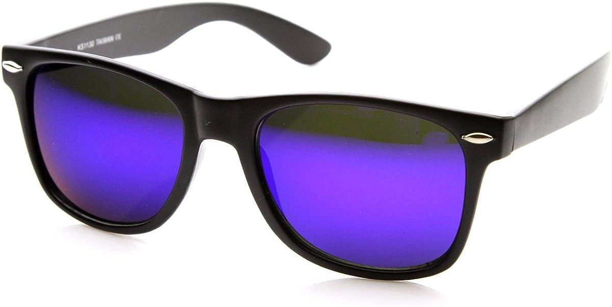 zeroUV ZV-8025l Retro Matte Black Lens Rim Max 42% OFF Flash Horned Colored OFFer