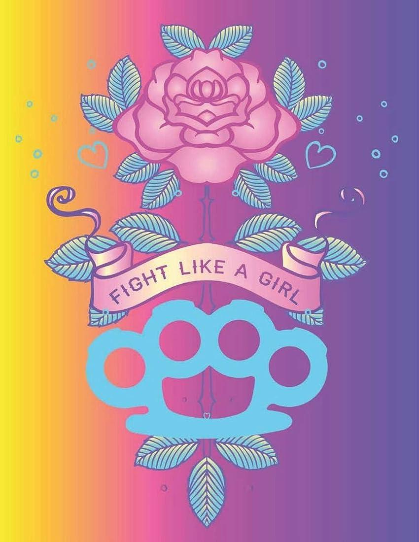 自然ファイアル不規則なFight Like a Girl: Pastel Goth Feminist : 110 Pages of 8.5