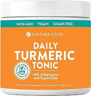 Daily Turmeric Tonic: Organic Turmeric + 7 Superfood & Adaptogen Antioxidant Golden Milk Blend; Makes a Perfect Turmeric T...