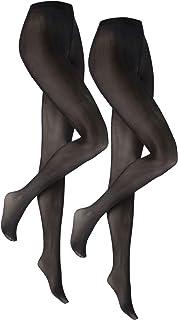 Vogue Opaque matt Strumpfhose 60 Den schwarz für Damen, 2 Paar