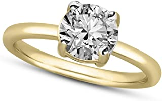 Tanache Natural Diamond Ring 1/2 cttw IGI Certified Solitaire Diamond Rings For Women I3-IJ Quality 10K & 14K Gold 100% Re...
