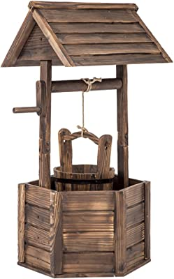 Amazon Com Best Choice Products Wooden Wishing Well