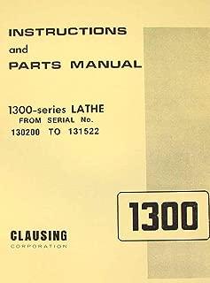 CLAUSING 1300, 1301 Metal Lathe Operator & Parts Manual SL