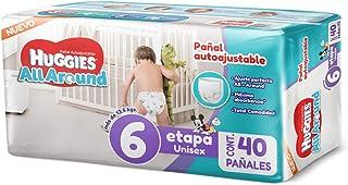 Huggies All Around Pañal Desechable para Bebé, Etapa 6 Unisex, Paquete con 40 piezas, Ideal para bebés de más de 13.5 kg