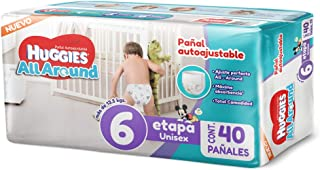 Huggies All Around - Pañales, Unisex, Etapa 6, 40 Piezas