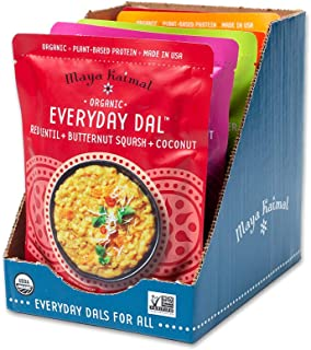 Sponsored Ad - Maya Kaimal Foods Organic Indian Everyday Dal Variety Pack, 10 oz (Pack of 6), Vegan,Microwavable, Ready to...