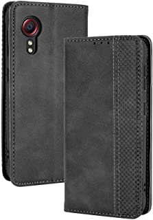 LAGUI Compatible for Samsung Galaxy Xcover 5 Case, Retro Style Wallet Magnetic Cover with Credit Card Slots and Flip Stan...