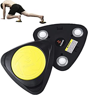 Fitlaya Fitness Core Exercise Equipment, AB Fitness Trainer-Two Core Sliders with Knee pad for Full Body Home Gym Workout (Sports Carry Bag Inside)