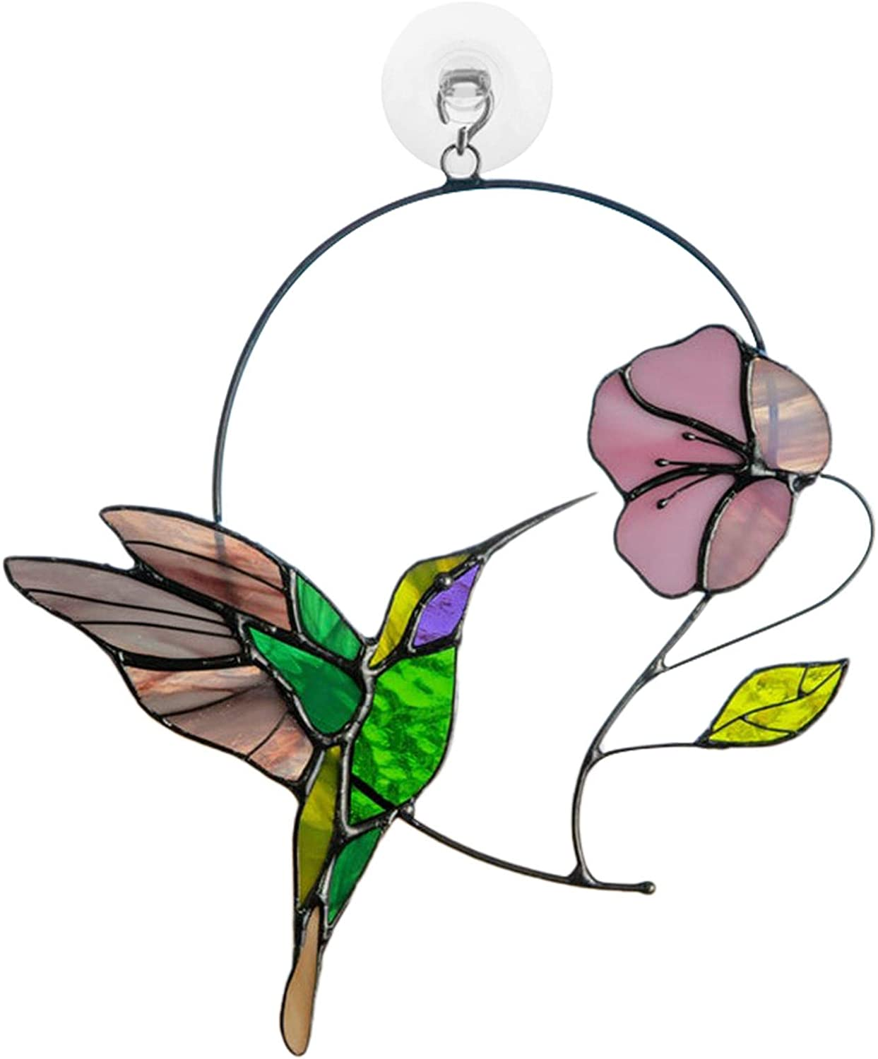 Bird and Flower on a Wire High Suncatcher Ornament 25% favorite OFF Stained Glass