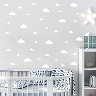 Makeyes Clouds Wall Sticker Little Big Clouds Sheet Set Wall Decal Home Baby Rooms Adhesive Wall Decoration Easy Peel Stic...