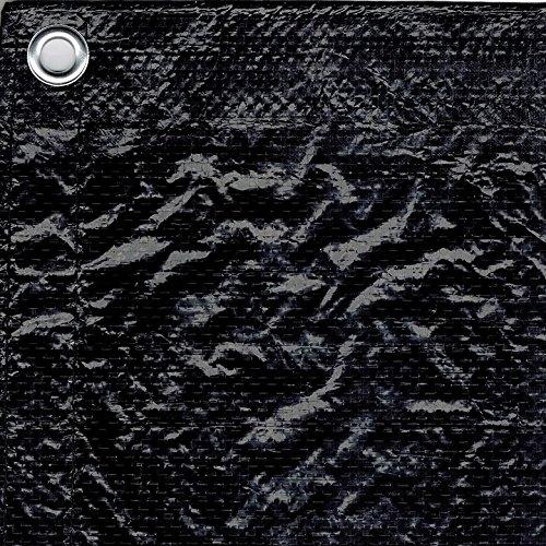 Bauzaunplane 1,76m x 3,41m schwarz blickdicht Sichtschutz Bauzaun