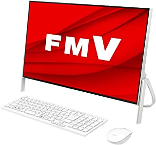 【公式】 富士通 デスクトップパソコン FMV ESPRIMO FHシリーズ WF1/E1 (Windows 10 Home/23.8型ワイド液晶/Core i3/4GBメモリ/約1TB HDD/スーパーマルチドライブ/Office Home and Business 2019/ホワイト)AZ_WF1E1_Z370/富士通WEB MART専用モデル