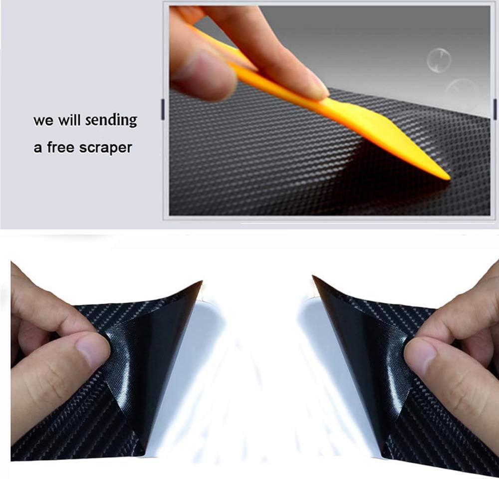 GLFDYC 4Pcs Fibra di Carbonio Soglia della Porta Auto Esterno Batticalcagno Adesivi Soglie Porte per Kia Stonic Protezione Car Styling Battitacco Inox Door Sill