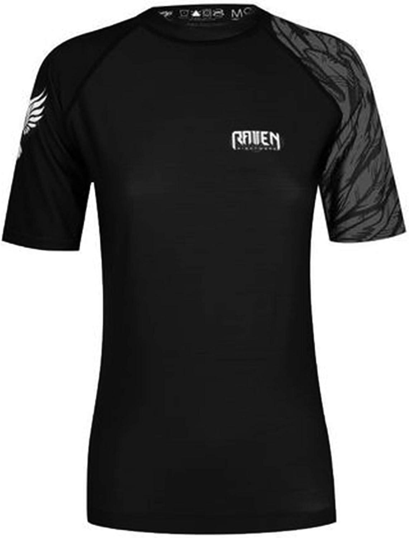 Raven Fightwear Women's Aerial Assault MMA BJJ Short Sleeve Rash Guard Black/Black