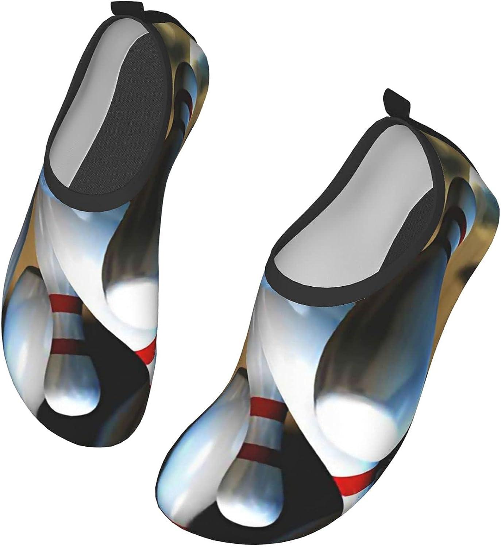 NAHOMER Playing Bowling Water Shoes for Mens Womens Aqua Socks Quick-Dry Barefoot Yoga Socks for Beach Swim Surfs Exercise