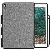 ProCase Carcasa Trasera iPad Air 10,5'/Pro 10.5, Funda Sin Tapa con Portalápiz para iPad Air 3.ª Generación 2019 / iPad Pro 10.5 Pulgadas 2017, Compatible con Apple Smart Keyboard y Smart Cover –Gris