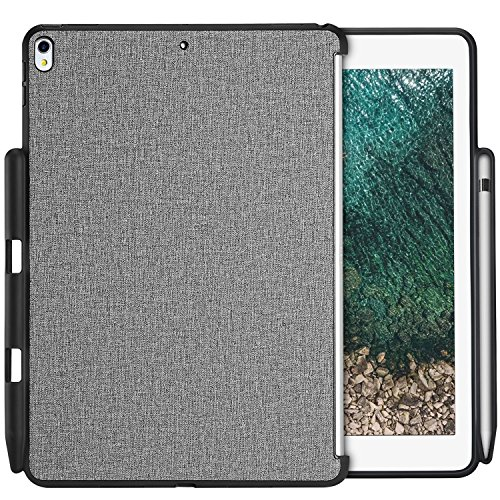 ProCase iPad Air 10.5' (3rd Gen) 2019 / iPad Pro 10.5 2017 Case, Companion Back Cover with Apple Pencil Holder for 10.5' iPad Air/iPad Pro 10.5, Work with Apple Smart Keyboard and Smart Cover -Gray