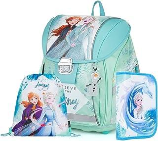 Disney Eiskönigin Frozen 2 Anna ELSA Schulranzen Mädchen Tornister Schulrucksack Schultasche Set 3 TLG. für Grundschule su...