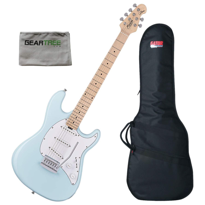 Cheap Sterling CT30SSSDBLM1 Cutlass SSS Electric Guitar (Daphne Blue) w/Geartree Clot Black Friday & Cyber Monday 2019