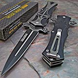 Tac Force Dagger Style Folding Knife, Black