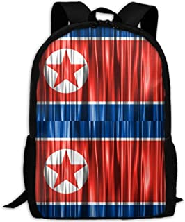 North Korea Flag Adult Travel Backpack School Casual Daypack Oxford Outdoor Laptop Bag College Computer Shoulder Bags