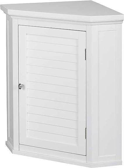 Versanora Wooden Cupboard Wall Mounted Bathroom Corner Storage Unit Mdf White 57 15 X 38 1 X 60 96 Cm Amazon Co Uk Home Kitchen