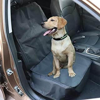 Dog Seat Cover Pet Front Seat Cover Car Seat Cover Single Car Seat Protector Cover, with Nonslip Back, Fits Universal Car...