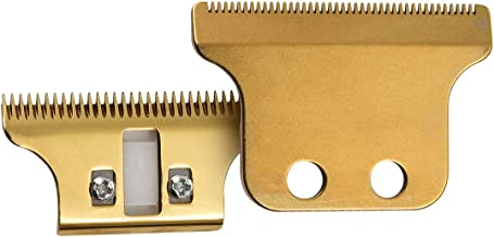 Professional Adjustable T-Wide Trimmer/Clipper Blades for #2215, Double Wide Trimmer Blades Competible with Wahl Clipper Trimmer, 5 Five Star Detailer -Includes Screws & Instructions,Gold