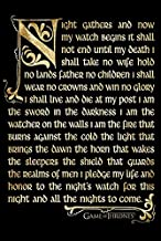 BEYONDTHEWALL Archive Game of Thrones Night's Watch Oath Epic Fantasy Action HBO TV Television Show Print (24x36 Unframed Poster)