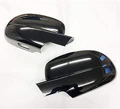 eLoveQ Gloss Black Side Mirror Full Cover Covers Fit 2007-2013 Chevy Silverado/Avalanche/Tahoe/Suburban/GMC Sierra/Yukon/Yukon XL (DO NOT FIT TOWING MIRROR)