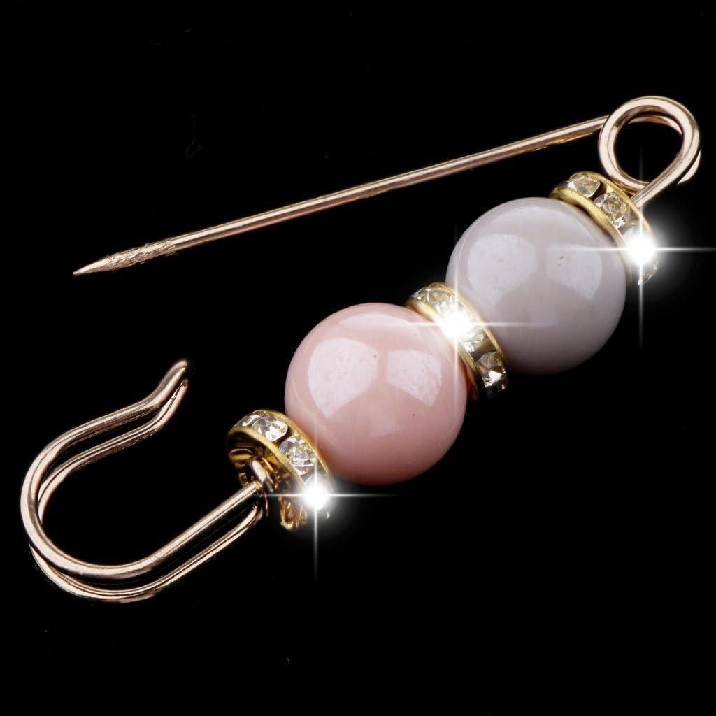 sharprepublic Mode Artfical Perle Strass Pull /écharpe /épingles Grosse /épingle 3 Couleurs