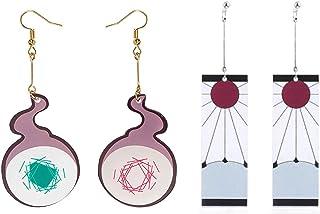 2 Pairs Anime Cosplay Acrylic Drop Earrings Toilet Bound Hanako Kun Acrylic Drop Earrings for Teens Girls Boys Birthday Fr...
