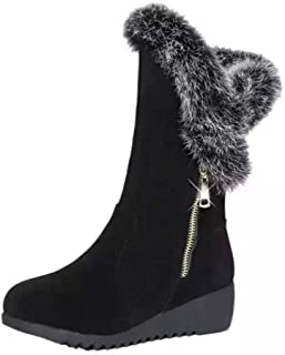 cceea724f6e90 Bottes de Neige Femmes Chaussures Bottes Cuissardes d hiver Bottes fourrées  Femmes Bottes Slip-