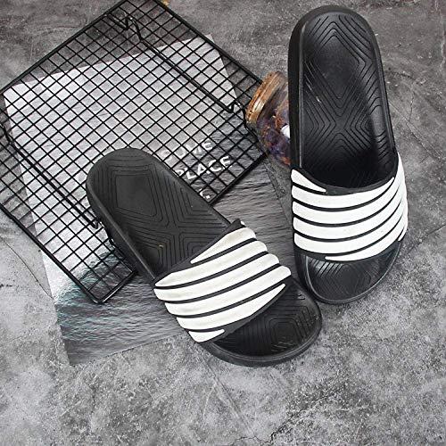 LIUCHANG Flip Flop Zapatillas, Masaje Antideslizantes par de baño, Sandalias y Zapatillas de casa-White_40, Chanclas liuchang20