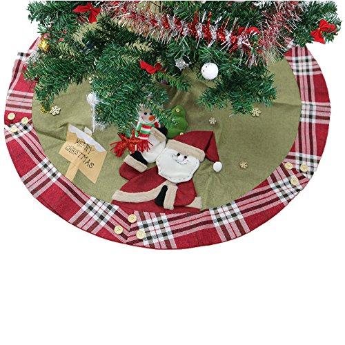 90cm P/ère No/ël Sapin de No/ël Jupe de No/ël de vacances D/écoration Ornement Partie /à la maison darbre Jupe Tablier Tapis Vkospy 60