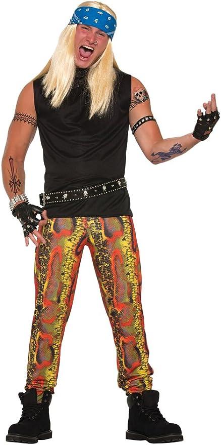 80s Men's Clothing   Shirts, Jeans, Jackets for Guys Forum Novelties Snake Skin Rocker Pants  AT vintagedancer.com