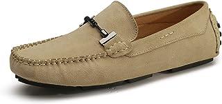 corbell メンズ レザーロファーズフラットモカシンドライビングアンチスキンシューズ 25.0cm 反?皮豆豆鞋